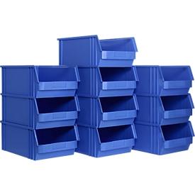 Caja con abertura frontal TF 14/7-2, plástico, 10 unidades, 23l