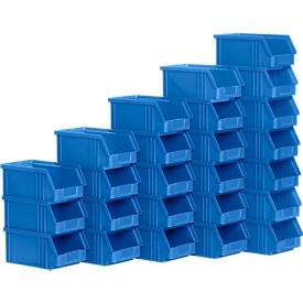 Caja con abertura frontal TF 14/7-5, plástico, 0,8l, 25 unidades