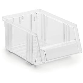 Caja con abertura frontal Treston Serie 1015, poliestireno, L 165 x An 105 x Al 75mm, 0,6l, transparente