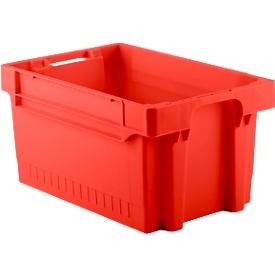 Caja con dimensiones norma europea EFB 643, 54l, rojo