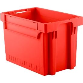 Caja con dimensiones norma europea EFB 644, 72l, rojo