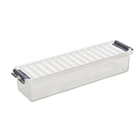 Caja de almacenaje Sunware Q-line Mix & Match, 0,9l, L 270 x An 86 x Al 60mm