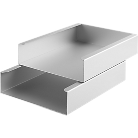 Caja de almacenamiento, DIN A4, juego de 2, aluminio anodizado