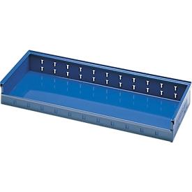 Caja de estantería, chapa de acero, ancho 980 x fondo 385 x alto 120 mm