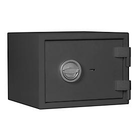 Caja fuerte MT 1, nivel de seguridad S 1 según EN 14450, 34 archivos de l/2, cerradura de doble paletón con 2 llaves, 1 estante, A 405 x P 385 x H 300 mm, gris grafito