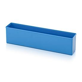 Caja insertable caja organizadora, para tamaño cuadrícula 1 x 5, rectangular, azul