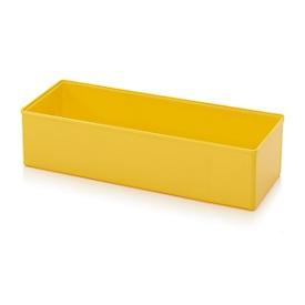 Caja insertable caja organizadora, para tamaño cuadrícula 2 x 5, rectangular, amarillo