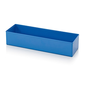 Caja insertable caja organizadora, para tamaño cuadrícula 2 x 6, rectangular, azul