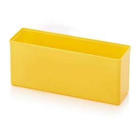 Caja insertable caja organizadora, rectangular, plástico ABS resistente, amarillo