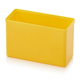 Caja insertable caja organizadora, rectangular, plástico resistente, amarillo