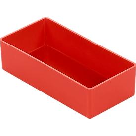 Caja insertable EK 303, rojo, PS, 60 unidades