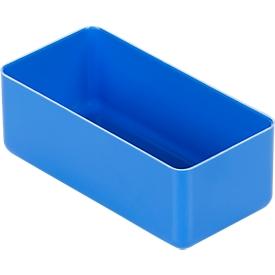 Caja insertable EK 402, PS, azul, 60 unidades