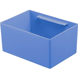 Caja insertable EK 4041, PP, azul, 40 unidades