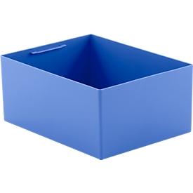 Caja insertable EK 6022 Q, PP, azul, 10 unidades