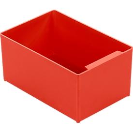 Caja insertable EK 753, rojo, PP, 10 unidades