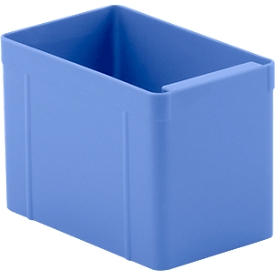 Caja insertable, poliestireno, L 137 x An 87 x Al 96mm, azul, 16 unidades