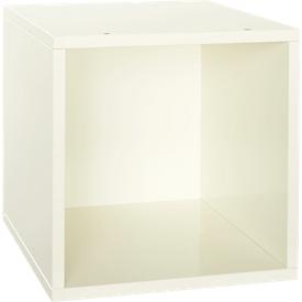 Caja para estantería Aura, 368 x 368 x 410mm, lacado blanco