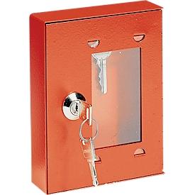 Caja para llaves de emergencia, para precintar, con cerradura, sin maza, de cierre igual