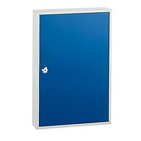 Caja para llaves TS100, para 100 llaves, gris luminoso/azul genciana