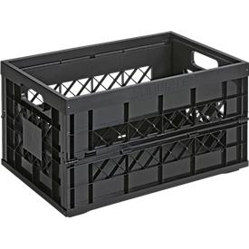 Caja plegable Sunware Heavy Duty, capacidad 45 l, capacidad de carga 30kg, negro