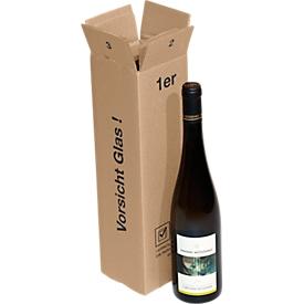 Cajas de envío para botellas de vino, individuales, 20 unidades