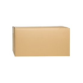 Cajas plegables de cartón ondulado, doble pared, 600 x 400 x 300 mm, marrón