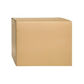 Cajas plegables de cartón ondulado, doble pared, 600 x 600 x 500 mm, marrón
