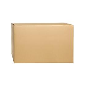 Cajas plegables de cartón ondulado, doble pared, 700 x 400 x 400 mm, marrón