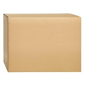 Cajas plegables de cartón ondulado, doble pared, 800 x 600 x 600 mm, marrón