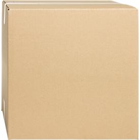 Cajas plegables de cartón ondulado, pared simple, 200 x 200 x 200 mm, marrón