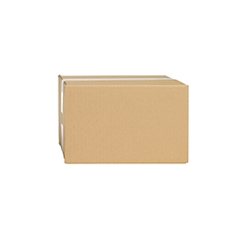 Cajas plegables de cartón ondulado, pared simple, 215 x 155 x 135 mm, marrón
