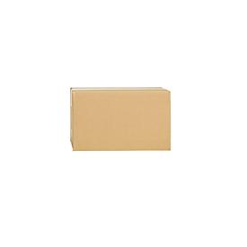 Cajas plegables de cartón ondulado, pared simple, 270 x 140 x 170 mm, marrón