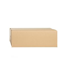 Cajas plegables de cartón ondulado, pared simple, 350 x 250 x 120 mm, marrón