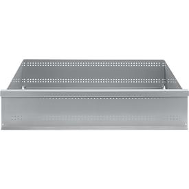 Cajón FS, chapa de acero, ancho 1281 x fondo 592 x alto 206 mm, aluminio blanco, hasta 50 kg