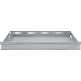 Cajón FS, chapa de acero, ancho 993 x fondo 592 x alto 100 mm, aluminio blanco, hasta 60 kg