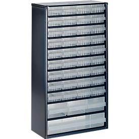 Cajonera-almacén de acero, 40 cajones, Al 555 x An 307 x P 150mm