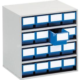 Cajonera TRESTON 1630, 16 cajones, P 300mm, azul