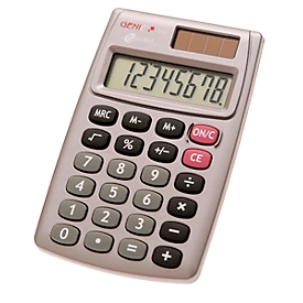 Calculadora de bolsillo Genie 510, con pantalla de 8 dígitos, alimentado con batería y solar