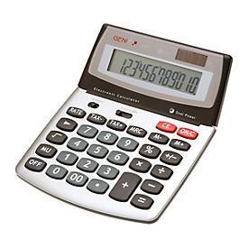 Calculadora de bolsillo Genie 560 T, con pantalla Jumbo de 12 dígitos, alimentado con batería y solar