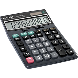 Calculadora de mesa CD-2729-12TN, pantalla de 12 dígitos, muchas funciones mercantiles