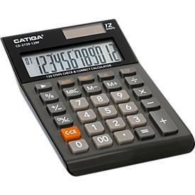 Calculadora de mesa CD-2739-12RP, pantalla LC de 12 dígitos, función de comprobación y corrección