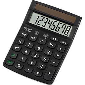 Calculadora de mesa Citizen ECC 210 Eco, pantalla LCD de 8 dígitos, alimentación solar