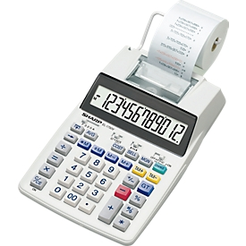 Calculadora de mesa Sharp EL-1750 V, pantalla LCD de 12 dígitos