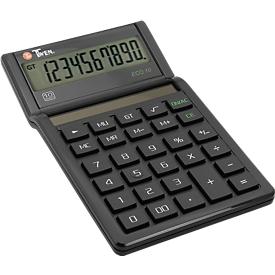 Calculadora de mesa Twen Eco 10, alimentación solar, pantalla de 10 dígitos, funciones MU y GT