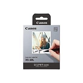 Canon XS-20L - Farbe (Cyan, Magenta, Gelb) - Farbbandkassetten- und Papier-Kit