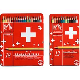 Caran d'Ache Buntstift Swisscolor CH-Fahne, 12er Pack
