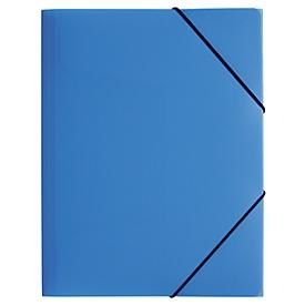 Carpeta Pagna de 3 solapas con banda elástica, A4, PP, azul claro