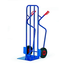 Carretilla apiladora extraancha, capacidad de carga 250kg, ruedas de goma maciza