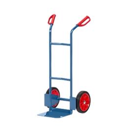 Carretilla de tubo de acero, hasta 200kg, Al 1150mm, ruedas de goma maciza, azul