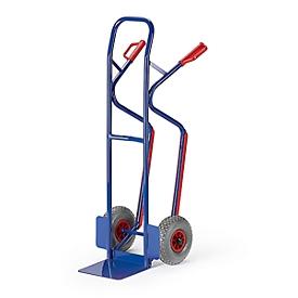Carretilla para cajas de tubo de acero, capacidad de carga 250kg, ruedas neumáticas